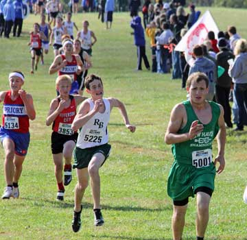 Pictured Zach Grater Holds Of Rock Bridge S Jack Gabel To Finish 33rd Out 124 Runners