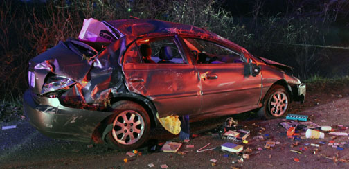 Vehicle Rollover Crash After Driver Attempts To Avoid Deer